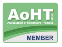 This is the Association of Healthcare Trainers MEMBER logo which action for people are members of